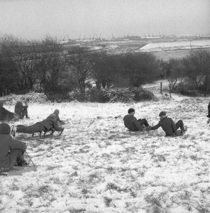 Sledging down the hangings
