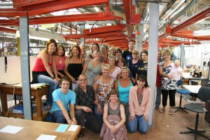 Staff on the Final day in 2007.