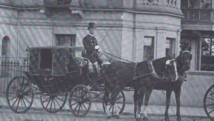 Starling's Horse Drawn Taxi.