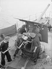 Naval trawler's gun crew
