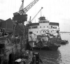 Alongside Parkeston Quay 1953